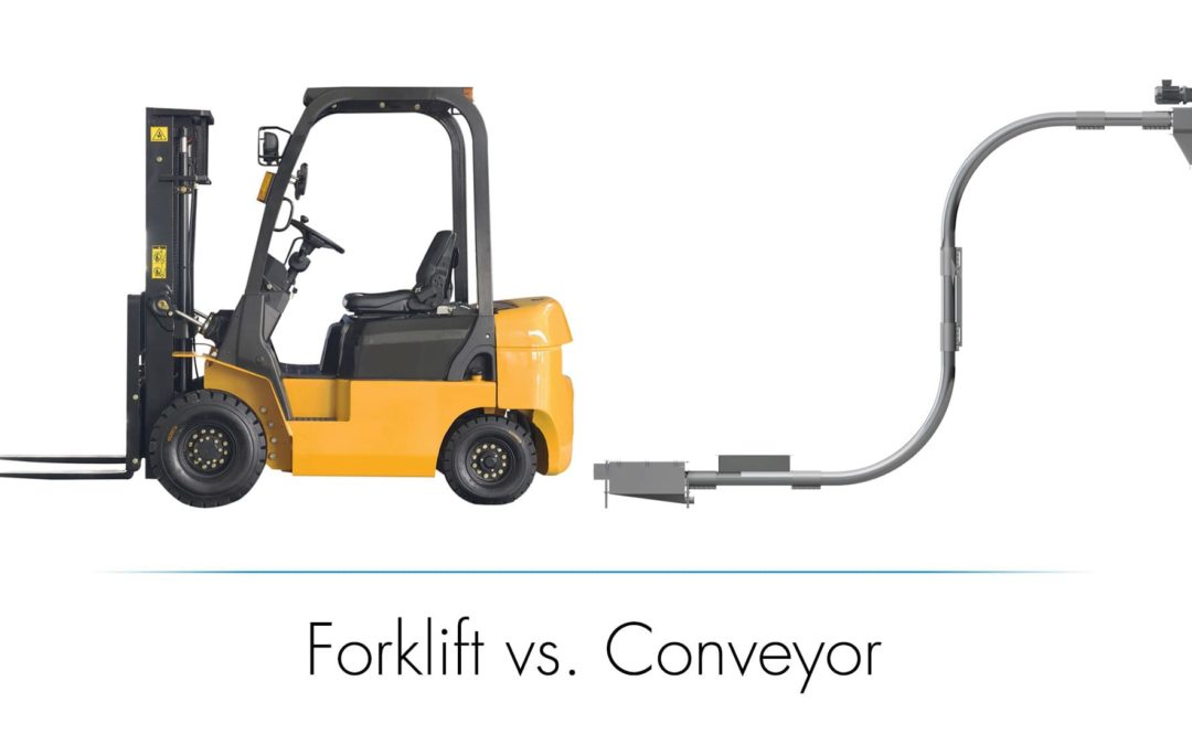 Cut Down on Moving Parts in Your Processing Facility – Forklifts vs Cable Conveying